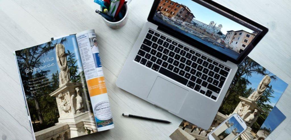 Travel Myths laptop